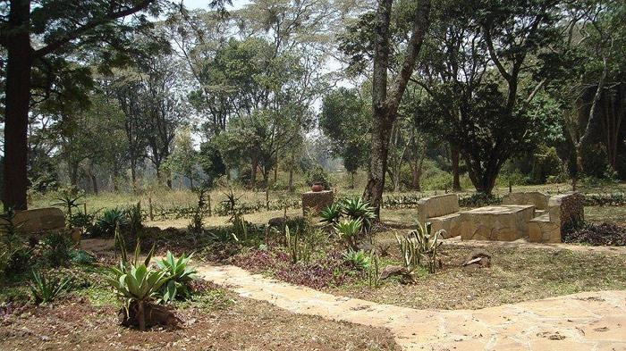 View of memorial garden